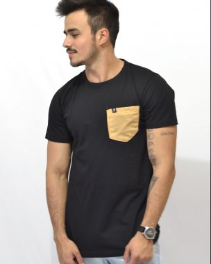 T-Shirt Pocket mustard