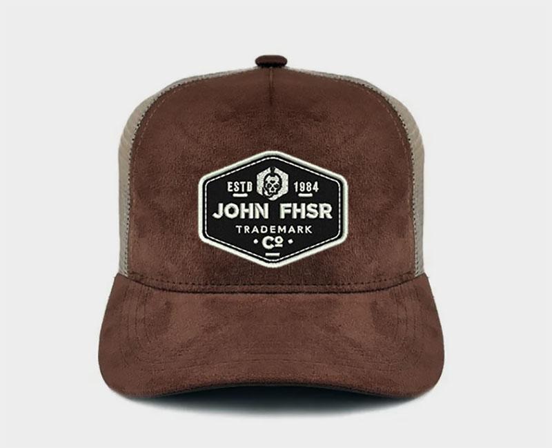 New Boné Trucker John Fisher Marrom