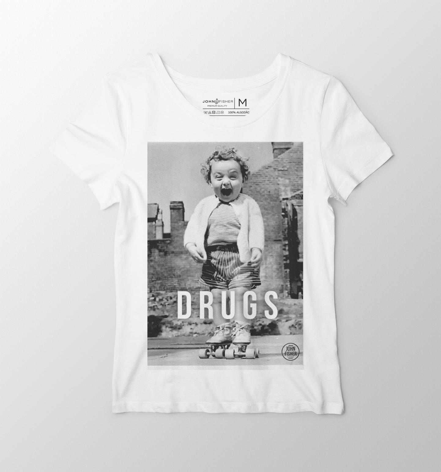 T-Shirt Feminina  Drugs