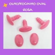 Olho/Focinho Oval Rosa (3 pares)