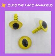 Olhos de gato com travas - Amarelo (5 pares)
