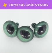 Olhos de gato com travas - Verde (5 pares)
