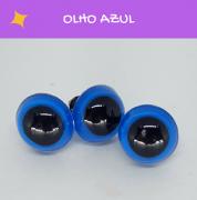 Olhos redondos com travas Circulo - Azul (5 pares)