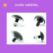 Olhos redondos com travas - Cristal (5 pares)