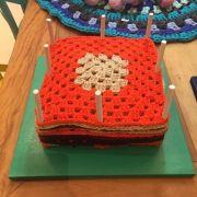 Suporte para quadradinho de crochê - Modelo 1