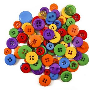 Botões Coloridos  (pacote 20 g - Circulo)  - AmiMundi