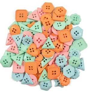 Botões Geométricos (pacote 20 g Circulo)  - AmiMundi