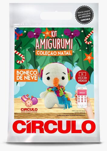 Kit Amigurumi - Coleção Natal - Boneco de neve  - AmiMundi