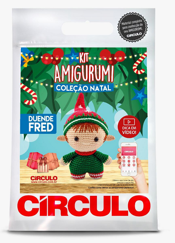 Kit Amigurumi - Coleção Natal - Duende Fred  - AmiMundi
