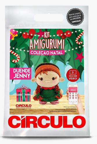 Kit Amigurumi - Coleção Natal - Duende Jenny  - AmiMundi