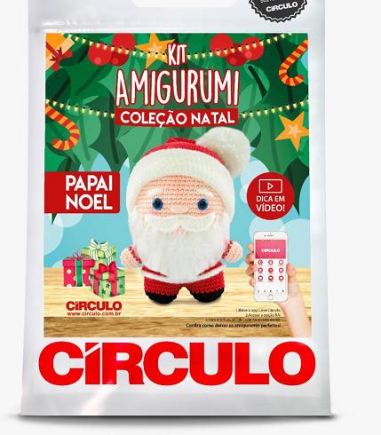 Kit Amigurumi - Coleção Natal - Papai Noel  - AmiMundi