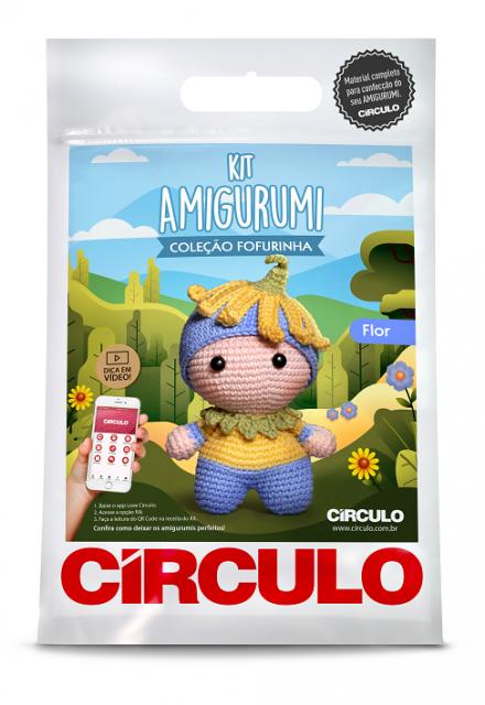 Kit Amigurumi Fofurinha 0003 - Flor  - AmiMundi