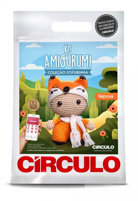 Kit Amigurumi Fofurinha 0002 - Raposa  - AmiMundi