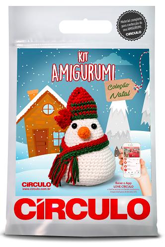 Kit amigurumi Natal - Boneco de Neve  - AmiMundi