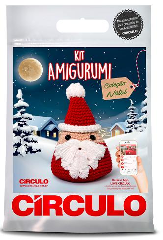 Kit Amigurumi Natal - Papai Noel 1  - AmiMundi