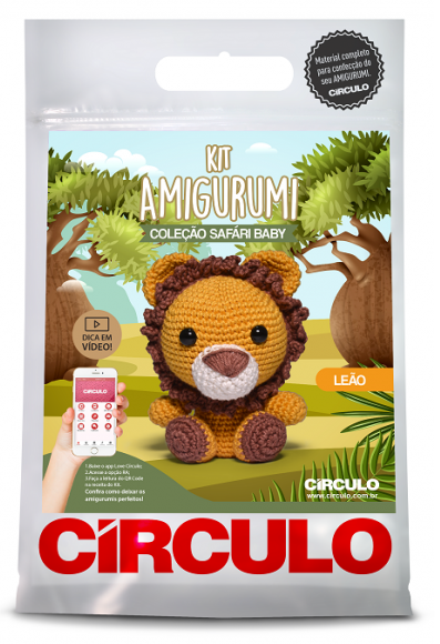 Kit Amigurumi Safari Baby - Leão  - AmiMundi