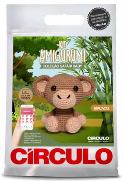 Kit Amigurumi Safari Baby - Macaco 2  - AmiMundi