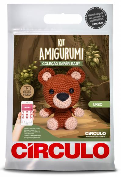 Kit Amigurumi Safari Baby - Urso 1  - AmiMundi