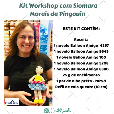 Kit Boneca - Workshop Siomara Morais - AmiMundi
