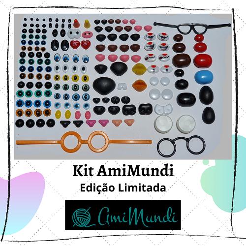 Kit de olhinhos e focinhos AmiMundi - Edição limitada (venda até 29/01/2021)  - AmiMundi