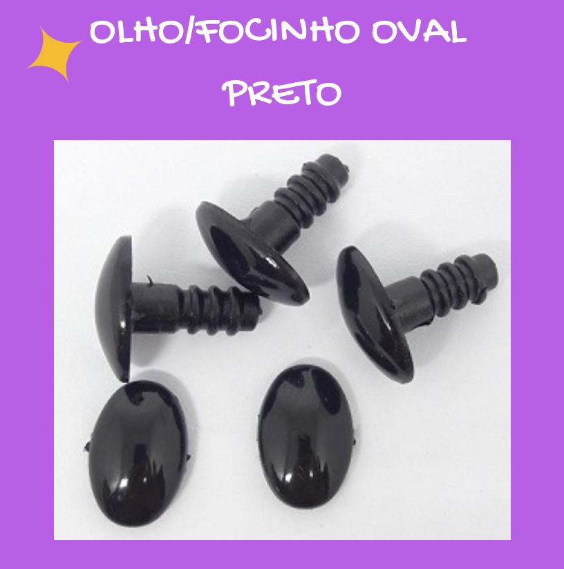Olho/Focinho Oval Preto (3 pares)  - AmiMundi