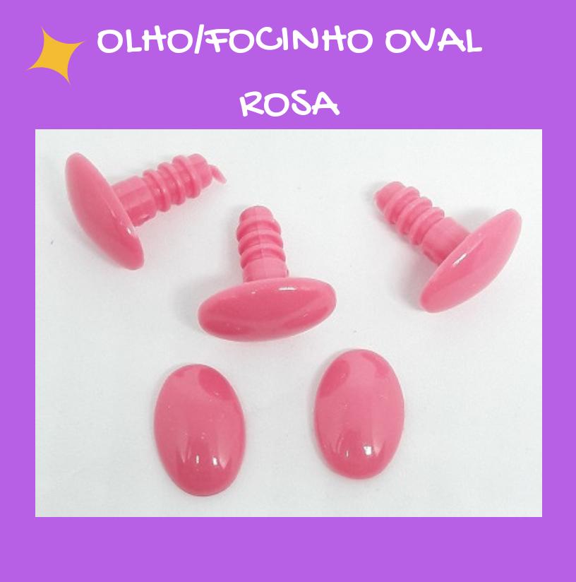 Olho/Focinho Oval Rosa (3 pares)  - AmiMundi
