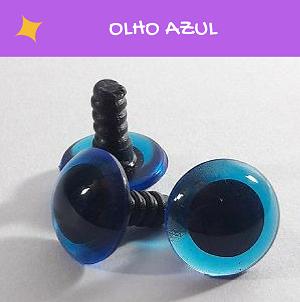 Olhos redondos com travas - Azul (5 pares)  - AmiMundi