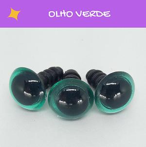 Olhos redondos com travas - Verde (5 pares)  - AmiMundi