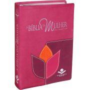A Bíblia da Mulher | Almeida Revista e Corrigida | Capa flor luxo| Média