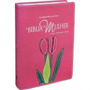 A Bíblia da Mulher | Estudo |Almeida Revista e Atualizada | Luxo | Tulipa | Goiaba | Grande