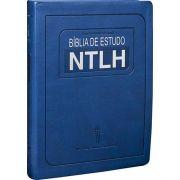 Bíblia de Estudo NTLH | Nova Tradução Na Linguagem de Hoje | Azul | Grande