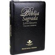Bíblia Sagrada | Letra Gigante | Revista  Almeida Atualizada | Zíper | Índice | Preta