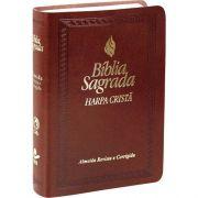 Bíblia Sagrada | RC |Harpa Cristã | Média | Luxo |Marrom Escuro