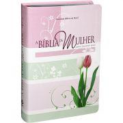 A Bíblia da Mulher | Estudo |Almeida Revista e Atualizada | Luxo | Tulipa | Grande