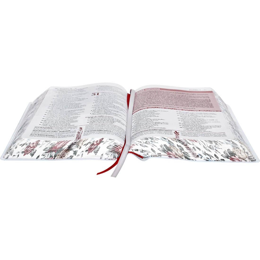 A Bíblia da Mulher | Almeida Revista e Atualizada | Branca | Média