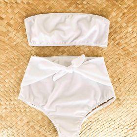 Biquíni Cintura Alta Branco Lily