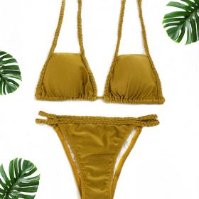 Biquíni Cortininha Dourado Summer