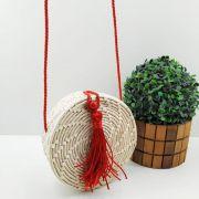 Bolsa Palha Frances Bag Delicada Xicote Redonda