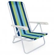 Cadeira De Praia Mor Reclinável 4 Posições - Cores Sortidas