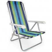 Cadeira De Praia Mor Reclinável 4 Posições Em Alumínio - Cores Sortidas