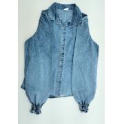 Camisa Kinteto Jeans Casual Fashion Feminino Adulto 3626