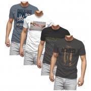 Camiseta T-Shirt Casual Confort Dia Dia Beller Masculino Adulto - Cores Sortidas