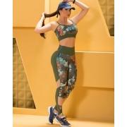 Conjunto Fitness Nega Rosa Bia Luxo Feminino Adulto