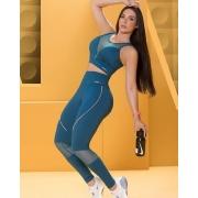 Conjunto Fitness Nega Rosa Bruna Luxo Feminino Adulto