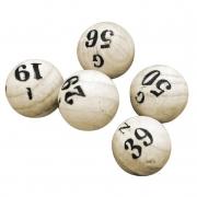 Jogo Kit Bola Pedras Sorteio Bingo 1 ao 75 MDF Ref Globo Tamanho P ou M