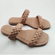 Rasteira Via Scarpa Slide Confort Tranças Delicada Feminino Ad 130014037