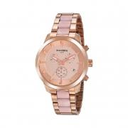 Relógio Feminino Mondaine Luxo Rose Pulseira Metal 53874