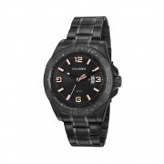 Relógio Masculino Mondaine Black Pulseira Metal Luxo 53915