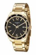 Relógio Mondaine Feixo Metal Dourado Masculino Adulto Ref 32268