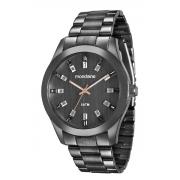 Relógio Mondaine Feixo Metal Pedras Feminino Adulto Ref 78663
